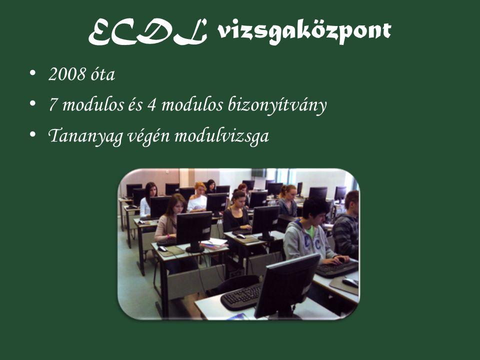 ECDL vizsgaközpont 2008 óta 7 modulos és 4 modulos bizonyítvány
