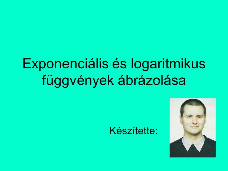 Exponenciális és logaritmikus függvények ábrázolása