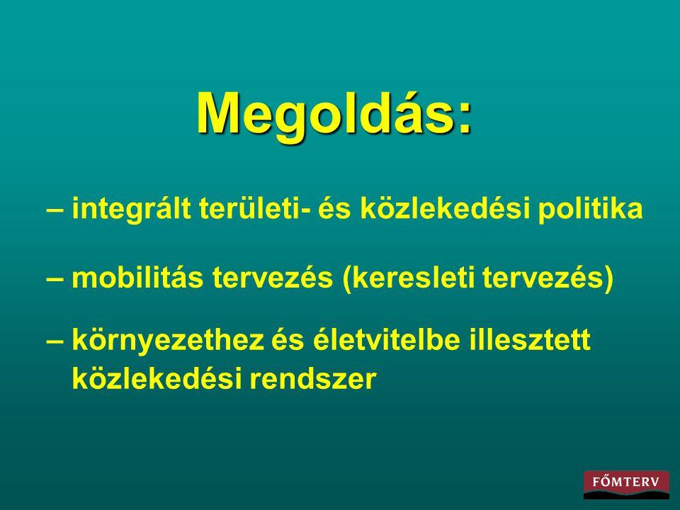 Megoldás: – integrált területi- és közlekedési politika