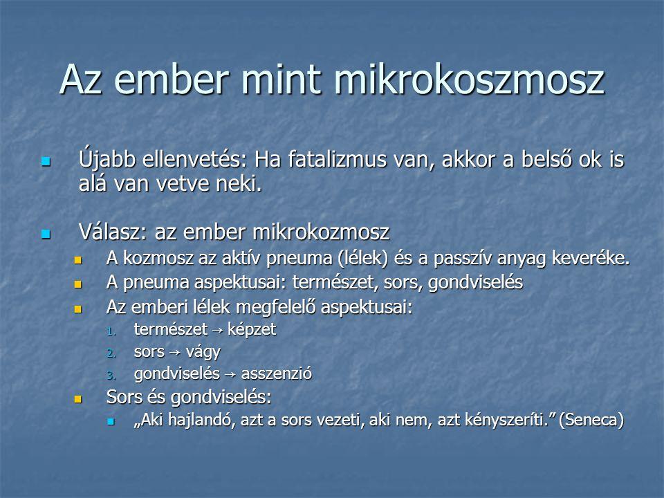 Az ember mint mikrokoszmosz