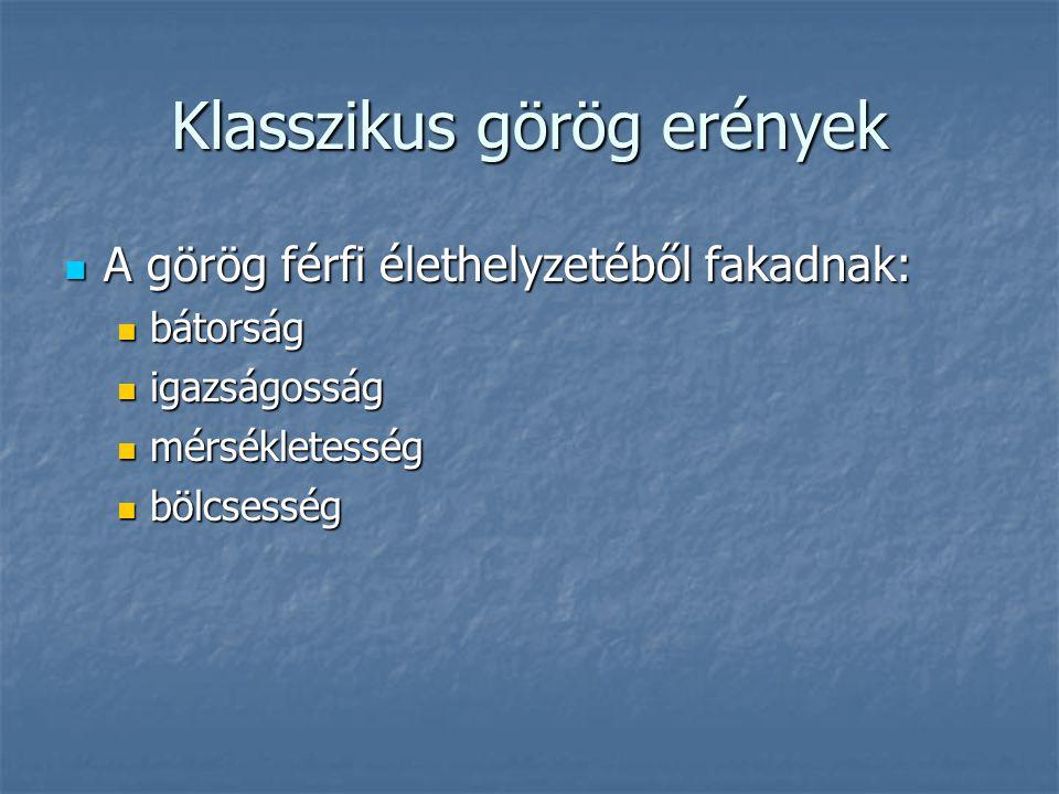 Klasszikus görög erények