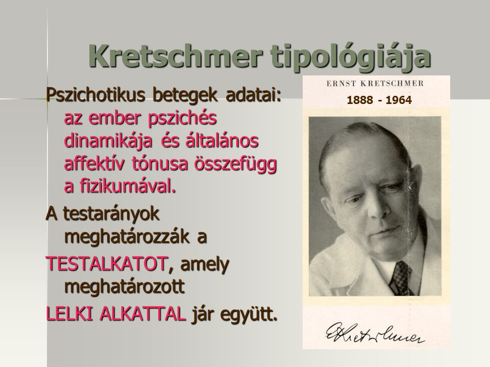 Kretschmer tipológiája