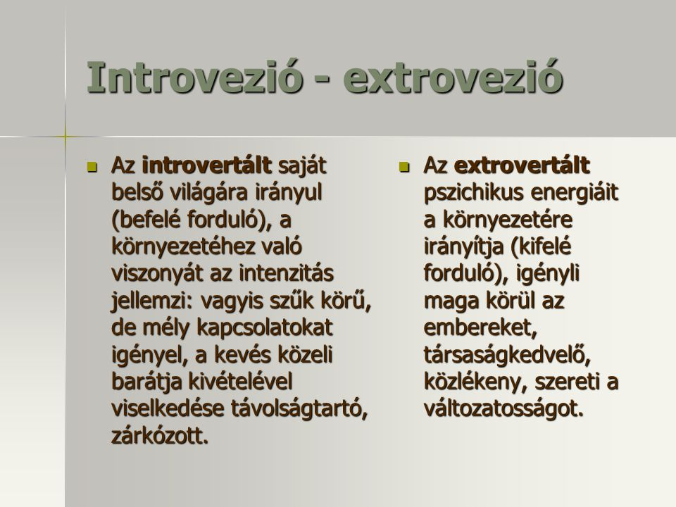 Introvezió - extrovezió