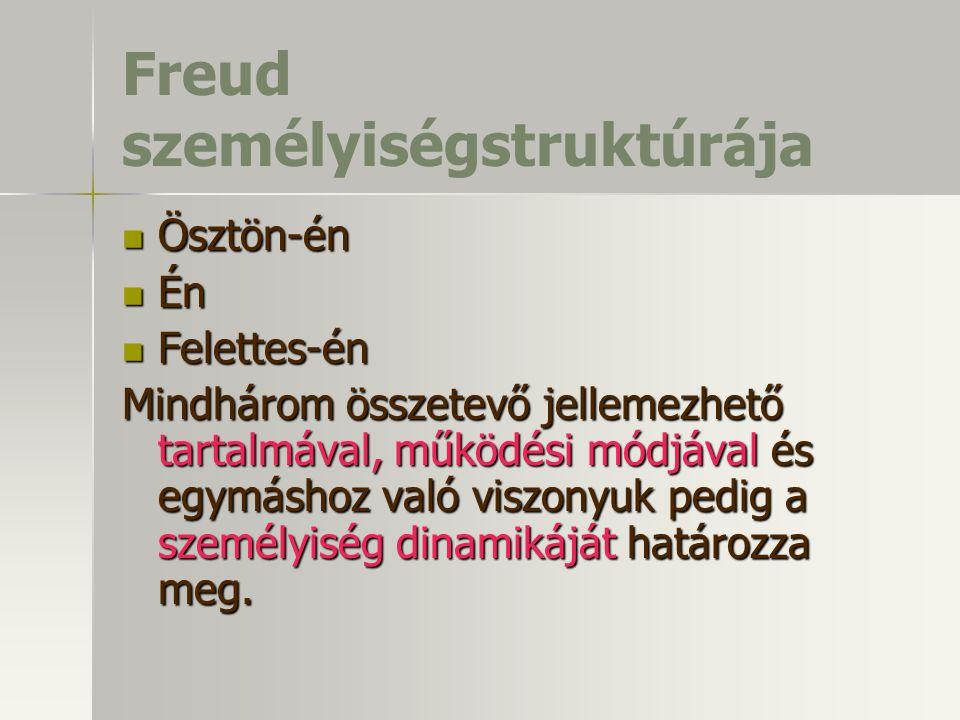 Freud személyiségstruktúrája