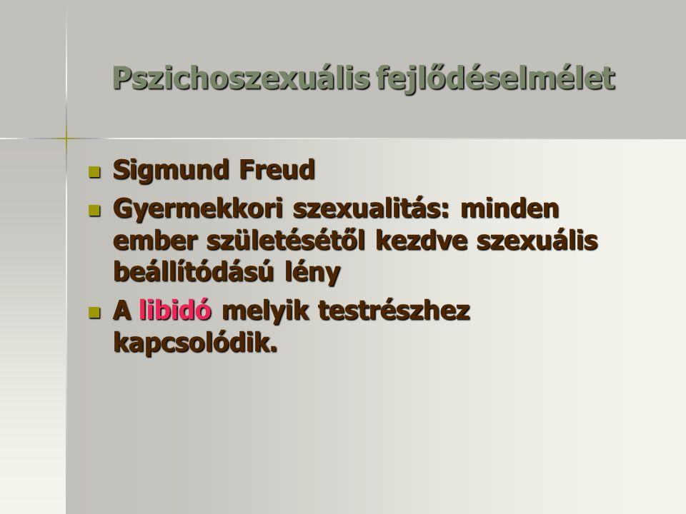 Pszichoszexuális fejlődéselmélet