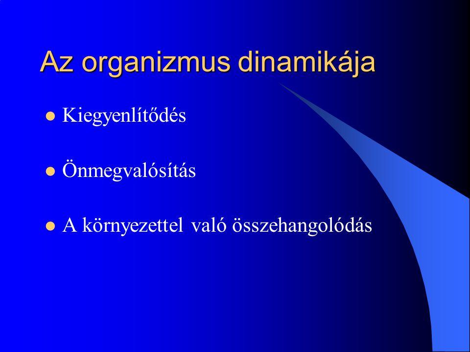 Az organizmus dinamikája