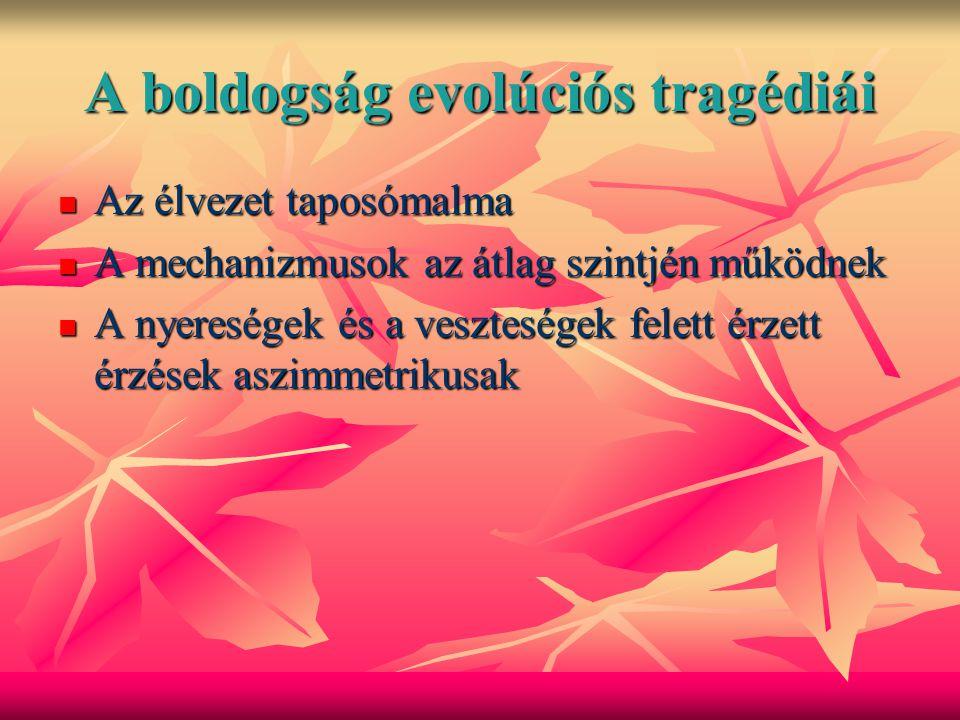 A boldogság evolúciós tragédiái