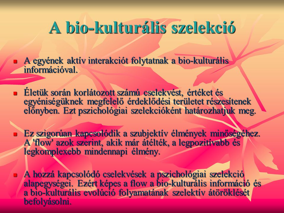 A bio-kulturális szelekció