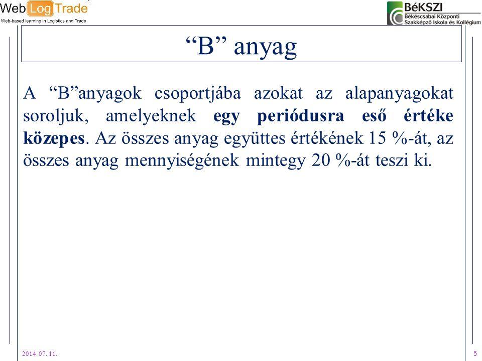 B anyag