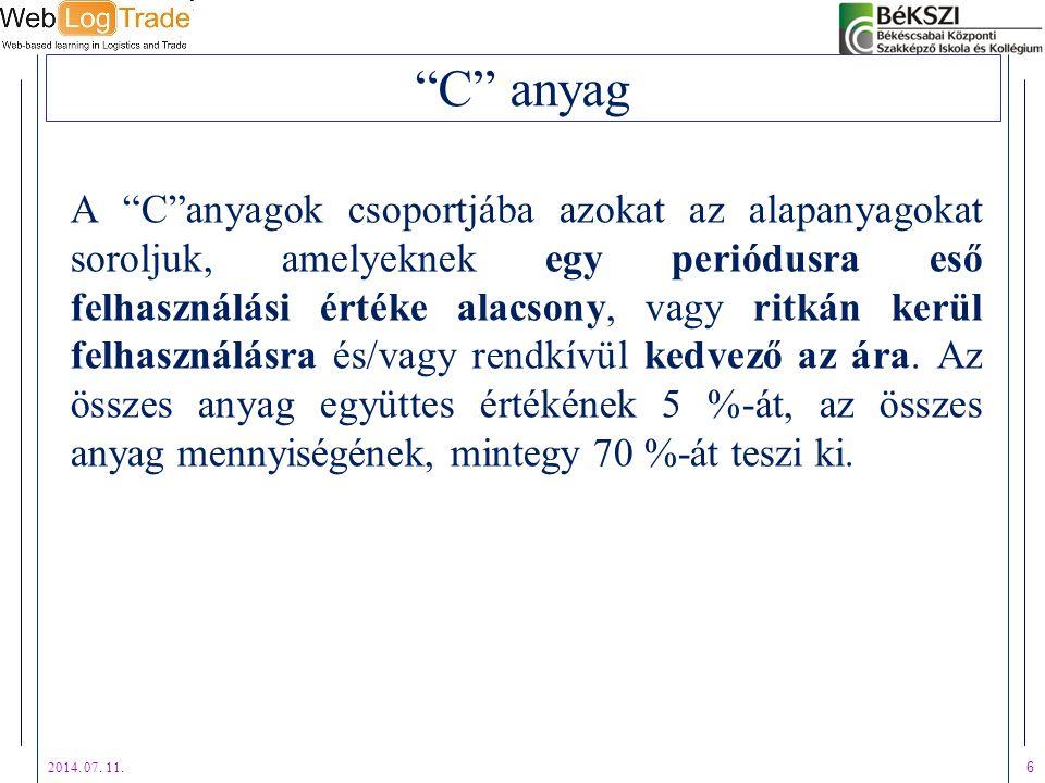 C anyag