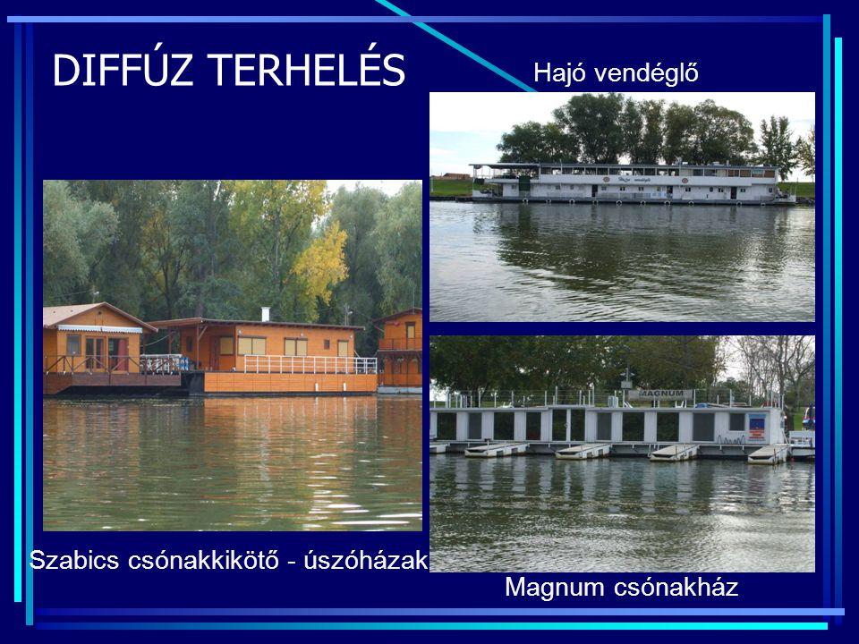Szabics csónakkikötő - úszóházak