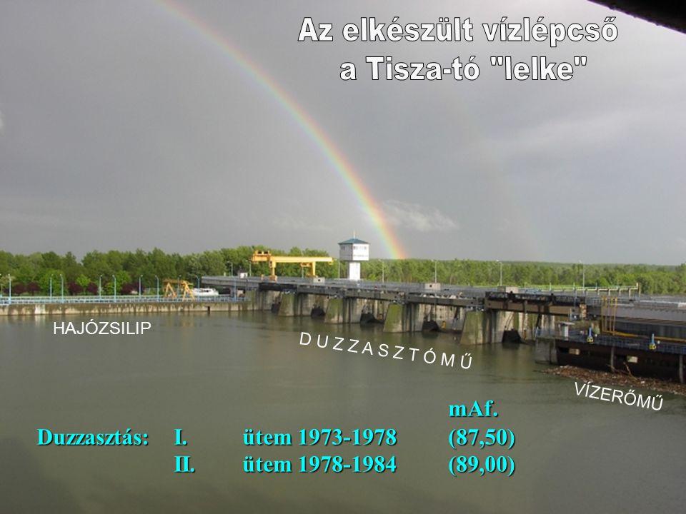 Az elkészült vízlépcső a Tisza-tó lelke