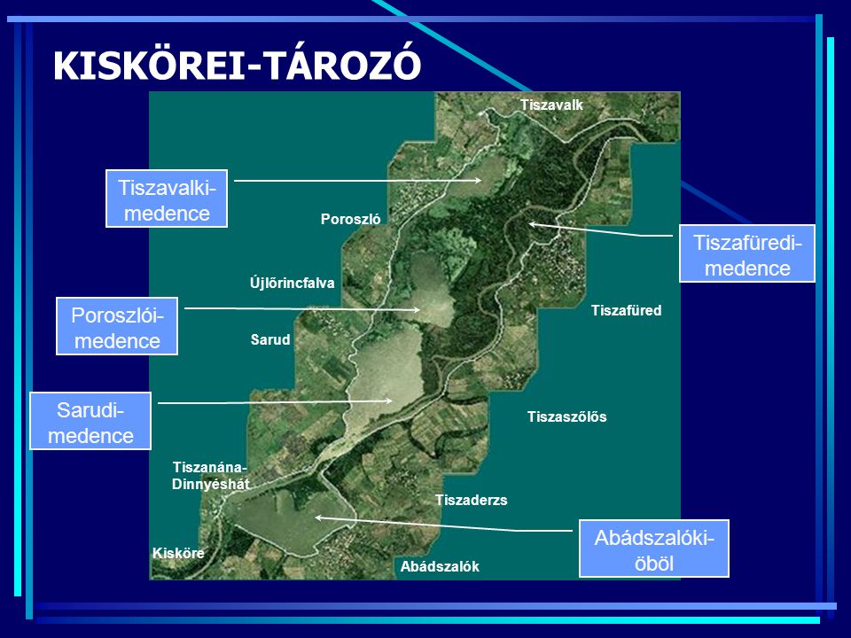 KISKÖREI-TÁROZÓ Tiszavalki- medence Tiszafüredi- medence
