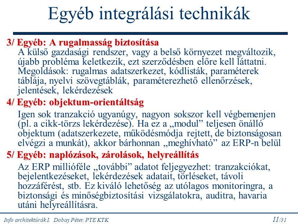 Egyéb integrálási technikák