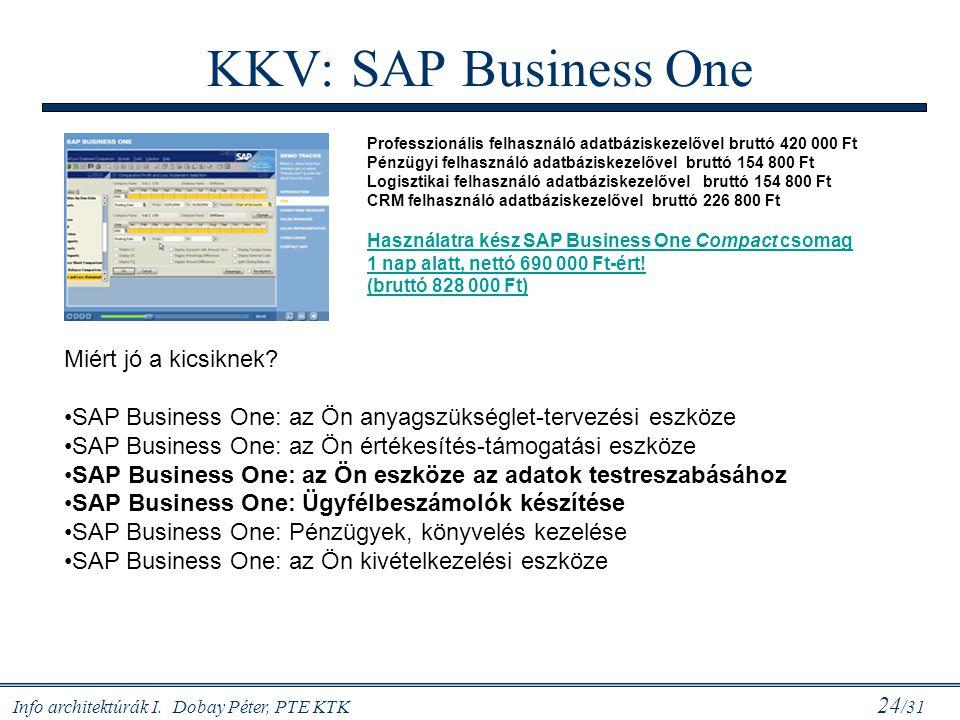 KKV: SAP Business One Miért jó a kicsiknek