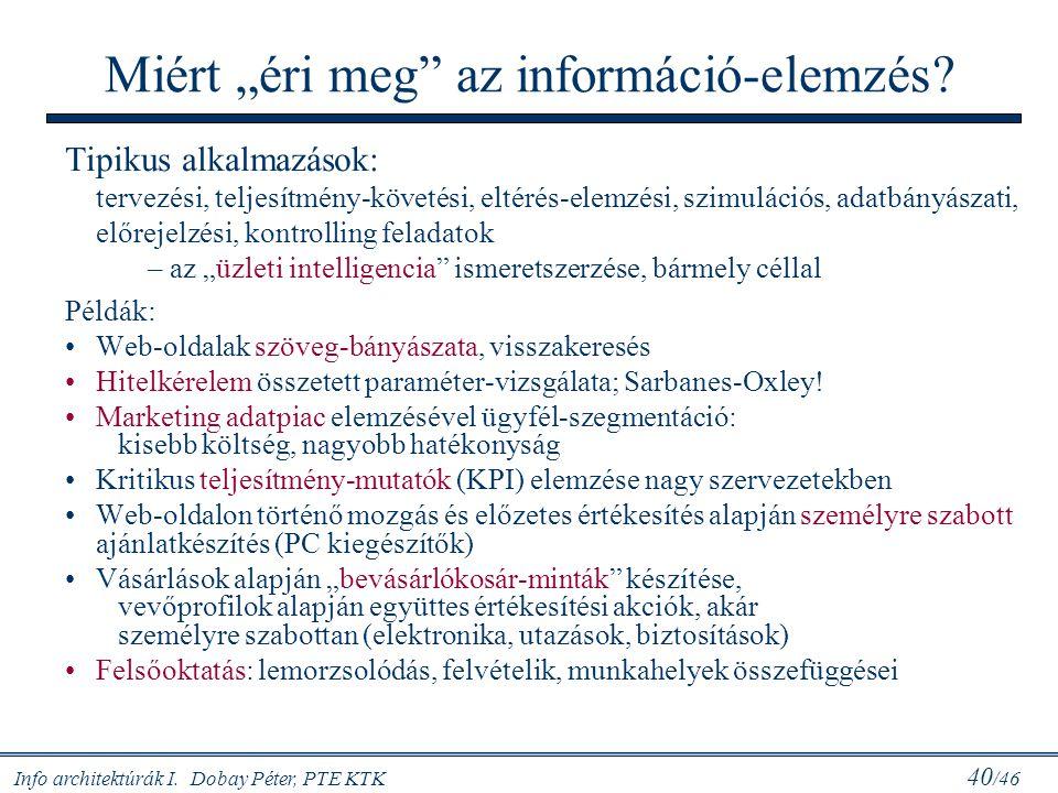 """Miért """"éri meg az információ-elemzés"""