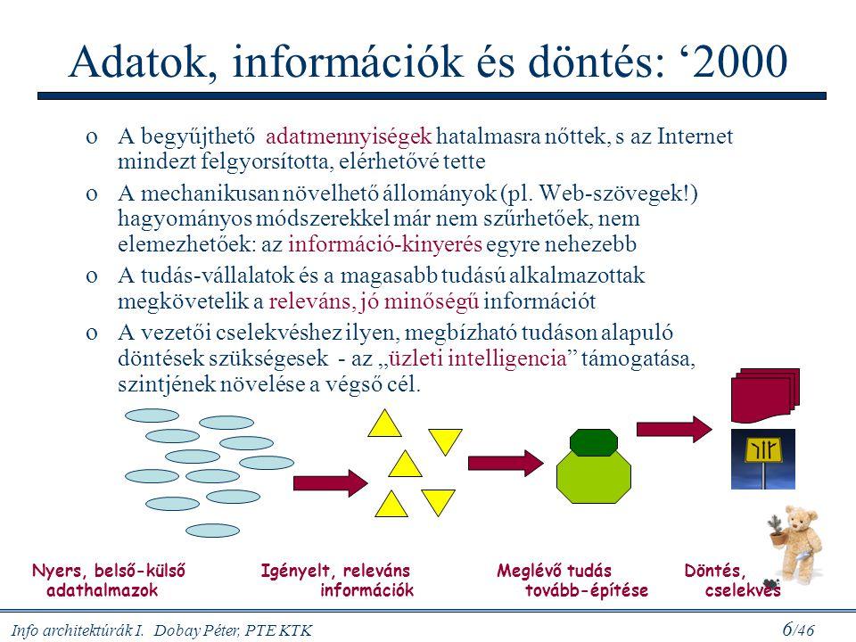 Adatok, információk és döntés: '2000
