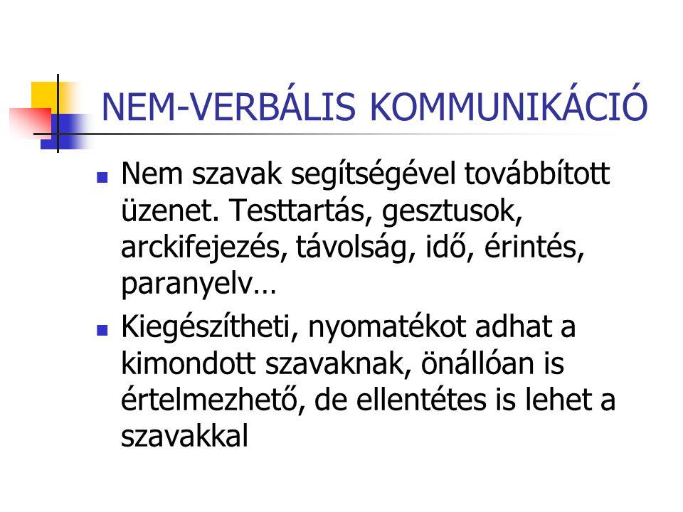 NEM-VERBÁLIS KOMMUNIKÁCIÓ