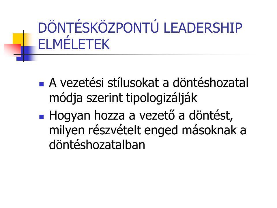 DÖNTÉSKÖZPONTÚ LEADERSHIP ELMÉLETEK
