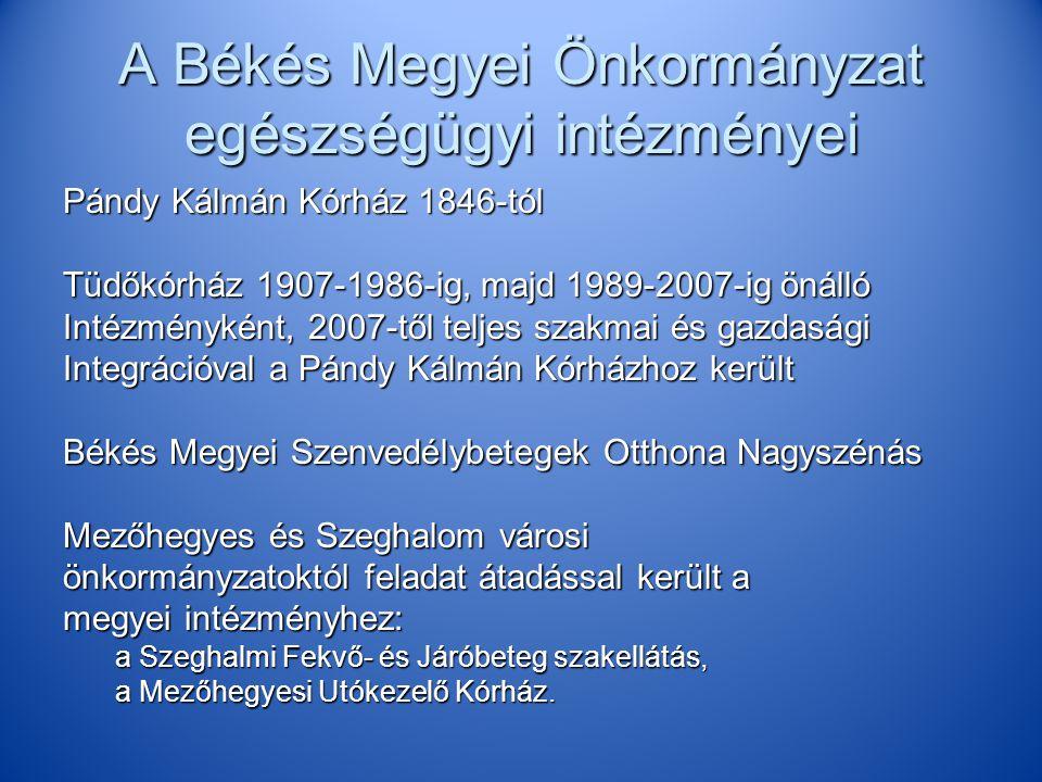 A Békés Megyei Önkormányzat egészségügyi intézményei
