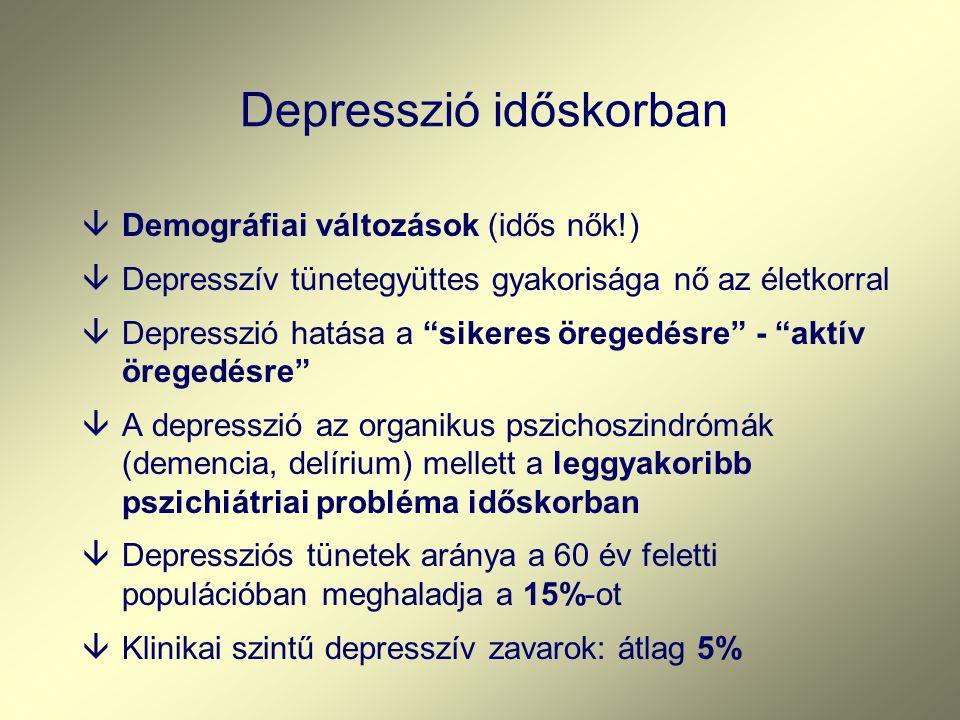Depresszió időskorban