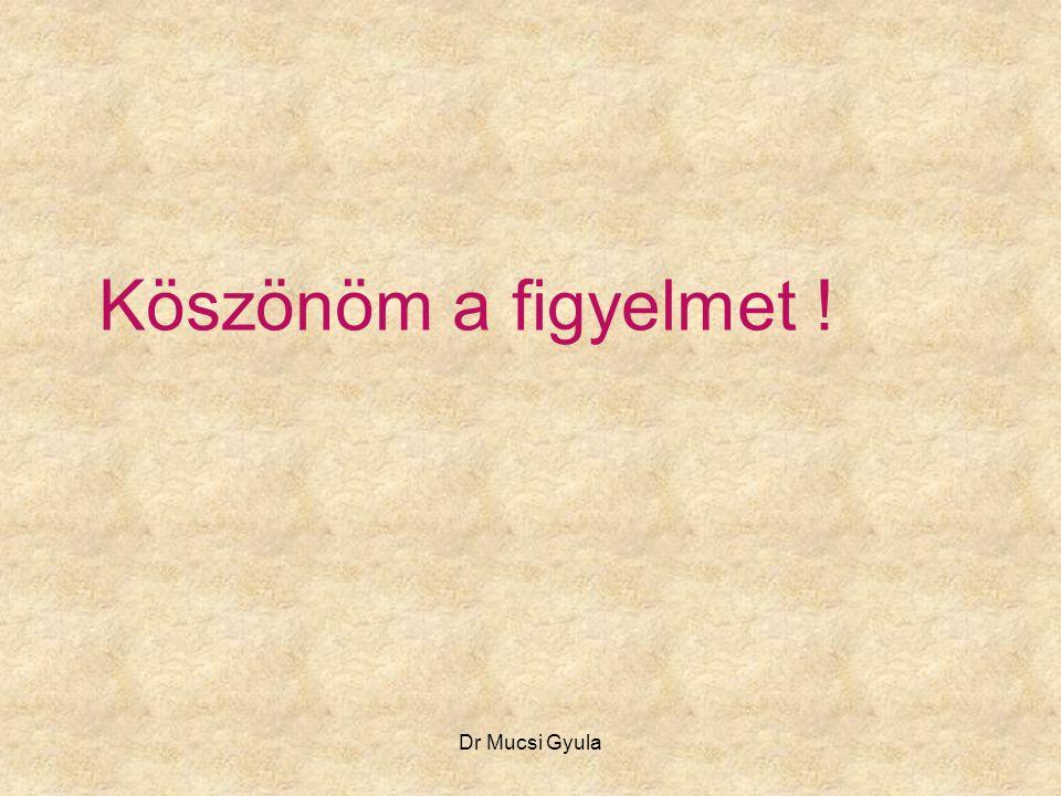 Köszönöm a figyelmet ! Dr Mucsi Gyula