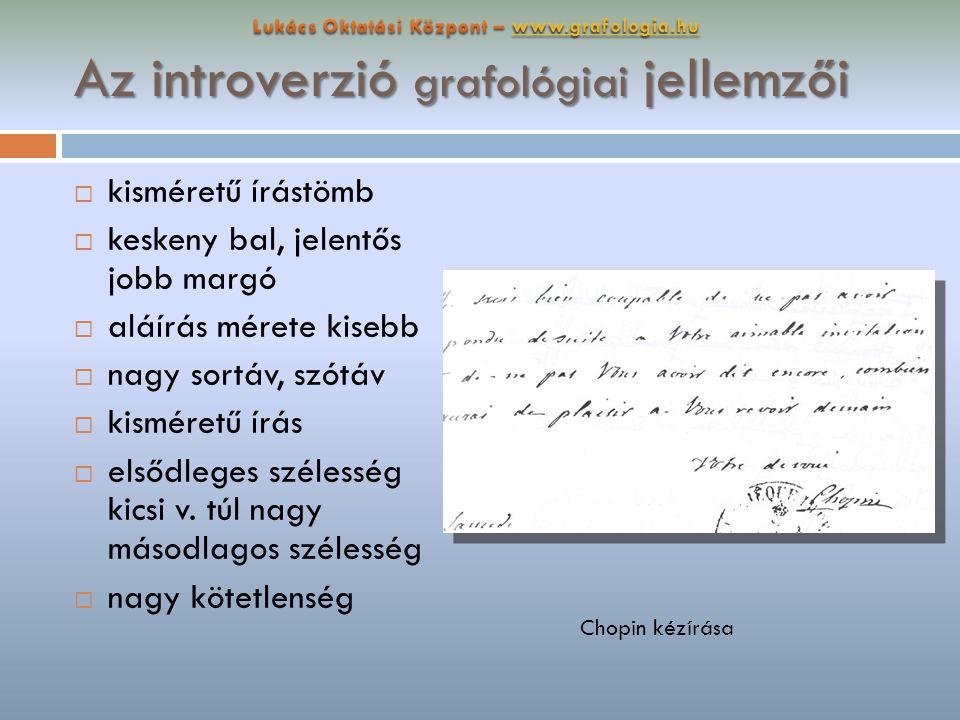 Az introverzió grafológiai jellemzői
