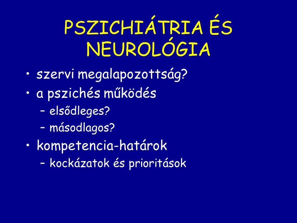 PSZICHIÁTRIA ÉS NEUROLÓGIA