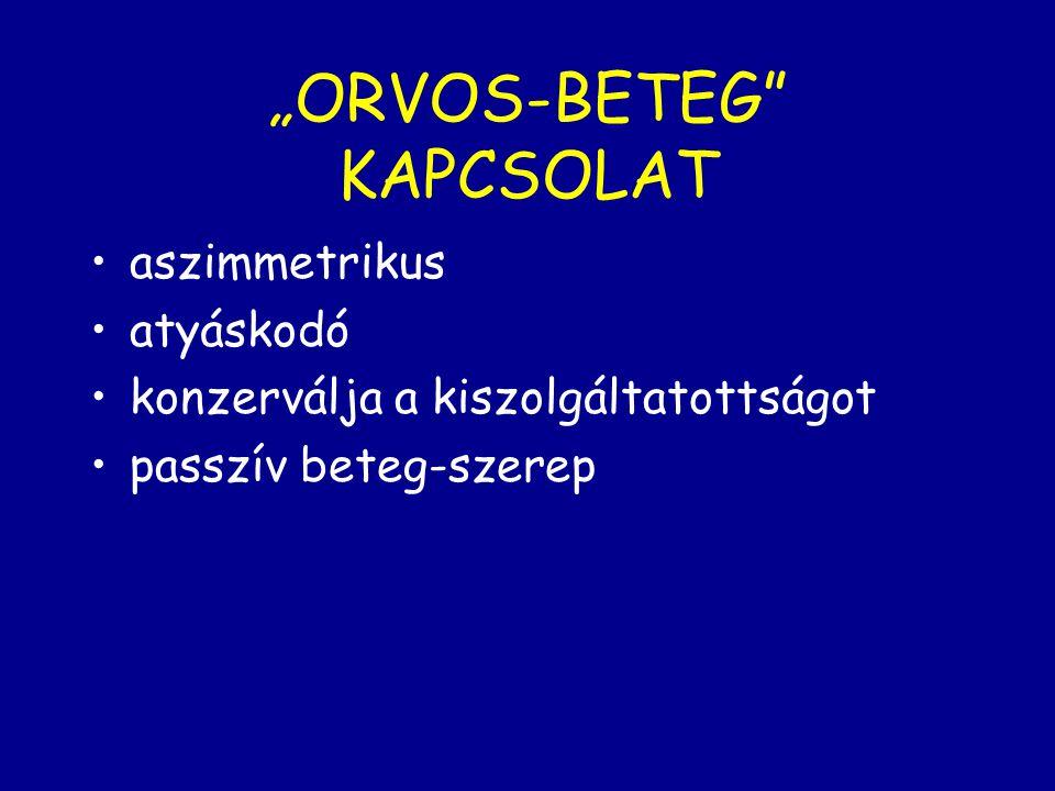 """""""ORVOS-BETEG KAPCSOLAT"""