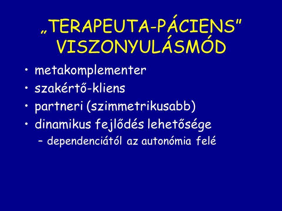 """""""TERAPEUTA-PÁCIENS VISZONYULÁSMÓD"""