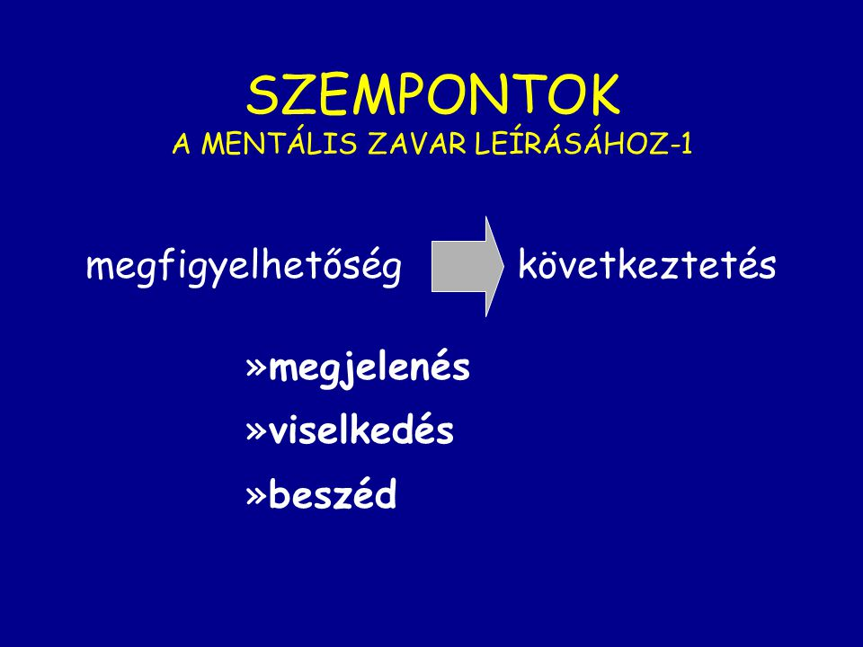 SZEMPONTOK A MENTÁLIS ZAVAR LEÍRÁSÁHOZ-1