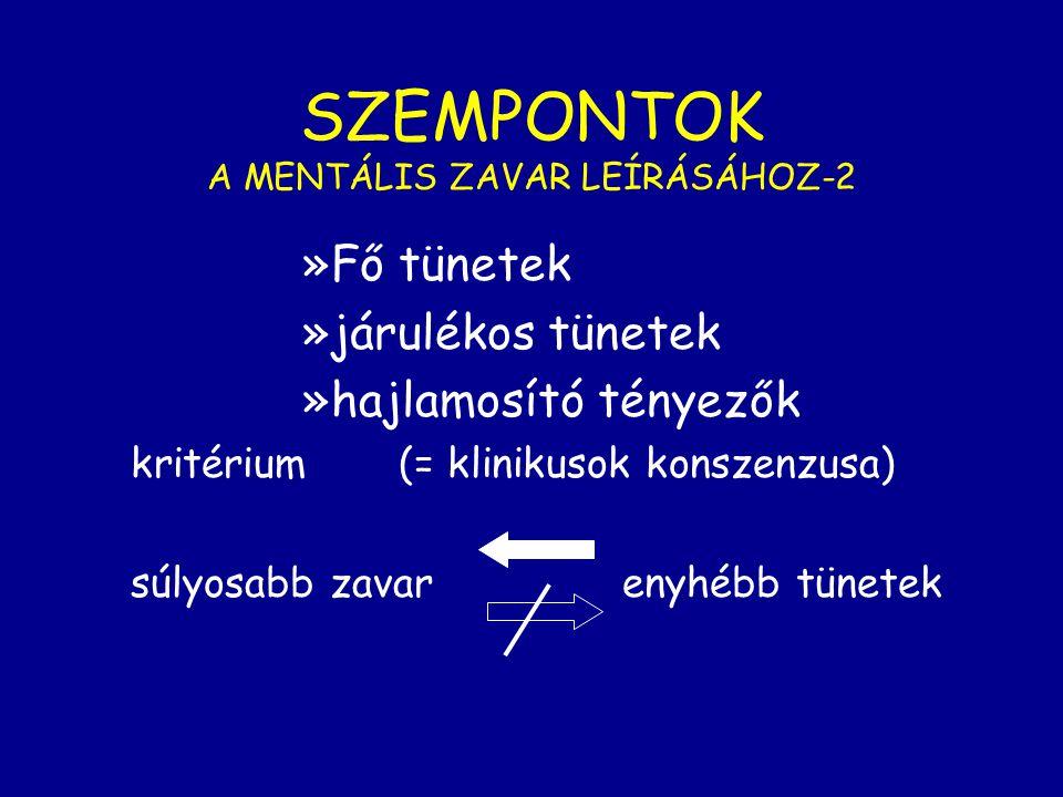 SZEMPONTOK A MENTÁLIS ZAVAR LEÍRÁSÁHOZ-2