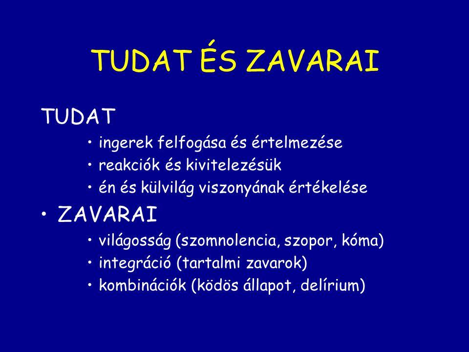 TUDAT ÉS ZAVARAI TUDAT ZAVARAI ingerek felfogása és értelmezése