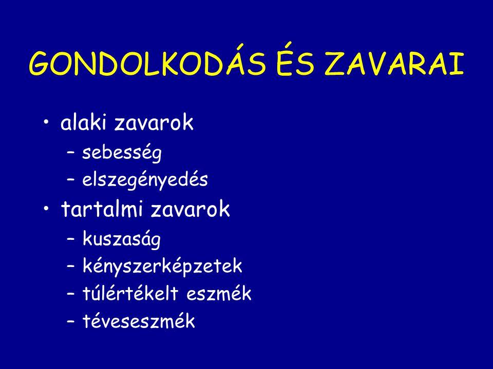 GONDOLKODÁS ÉS ZAVARAI
