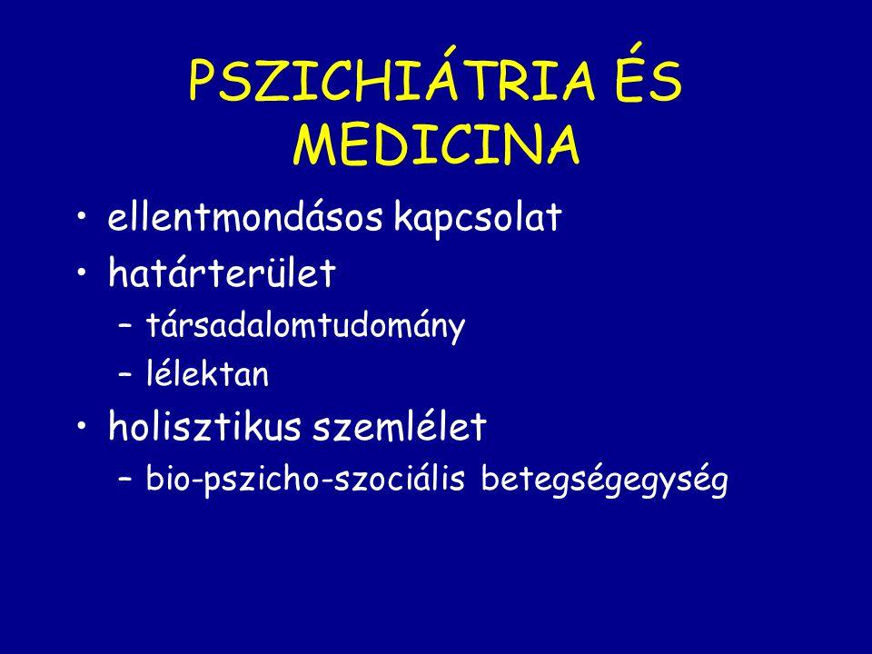 PSZICHIÁTRIA ÉS MEDICINA