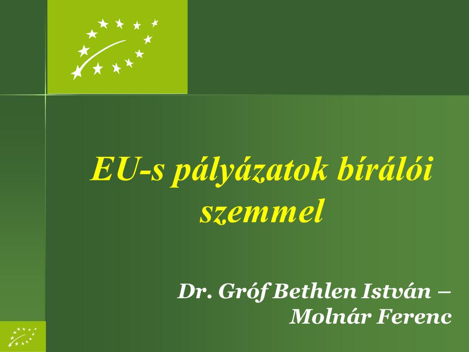 EU-s pályázatok bírálói szemmel