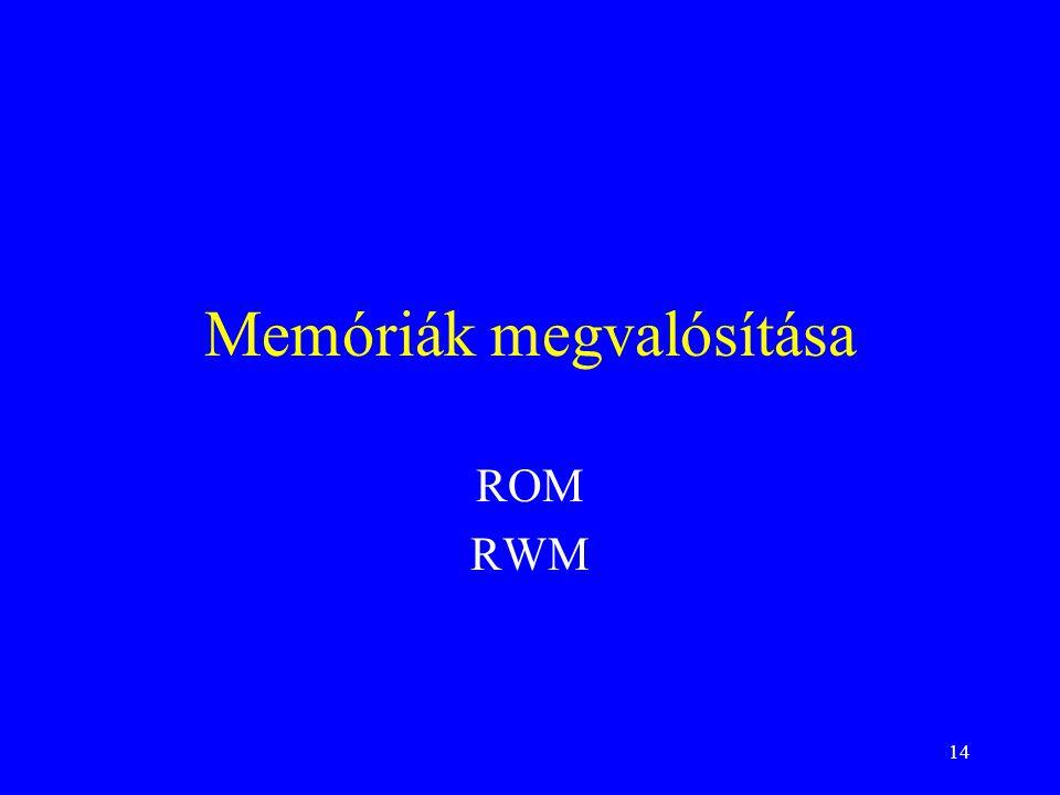 Memóriák megvalósítása