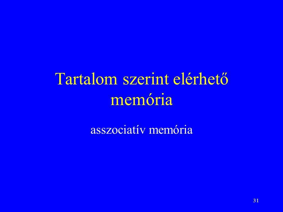 Tartalom szerint elérhető memória