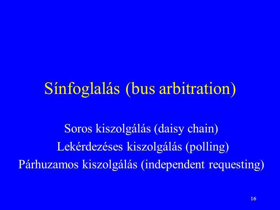 Sínfoglalás (bus arbitration)