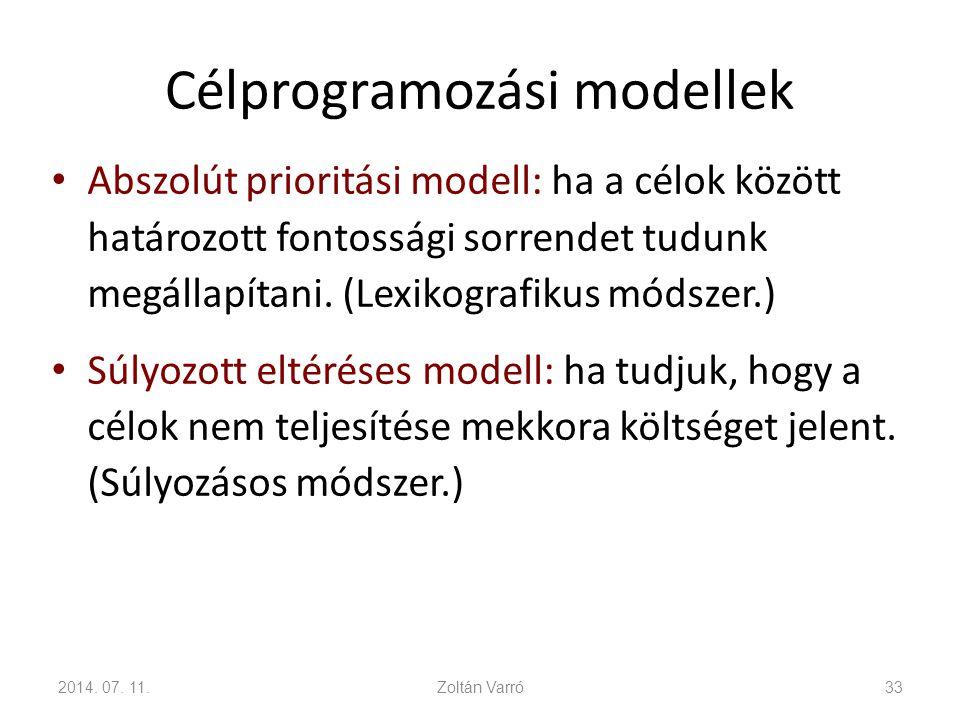 Célprogramozási modellek