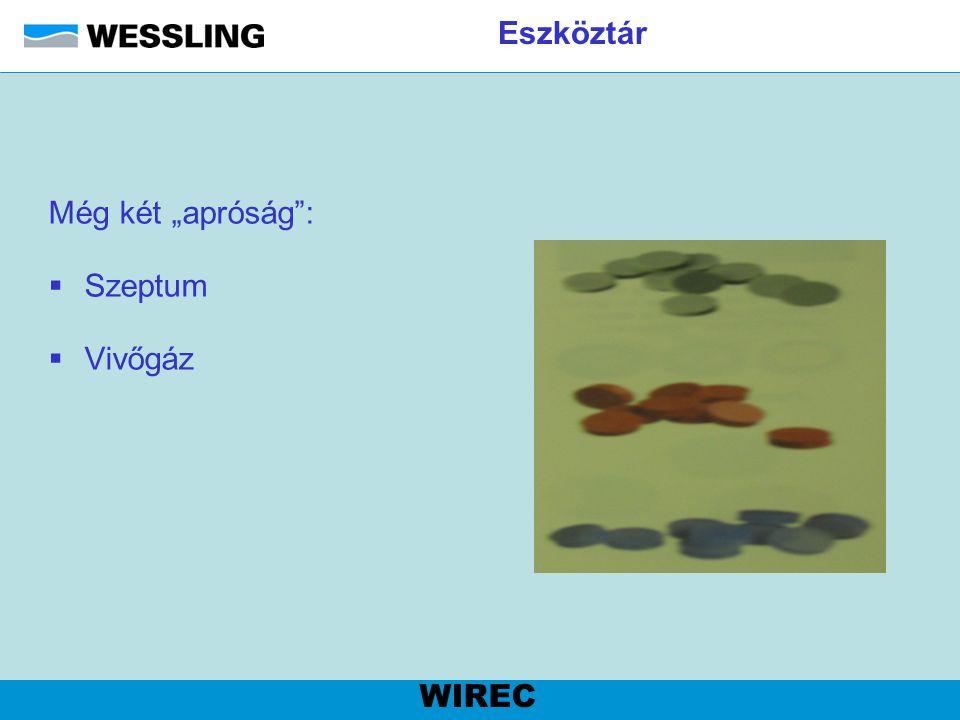 """Eszköztár Még két """"apróság : Szeptum Vivőgáz WIREC"""