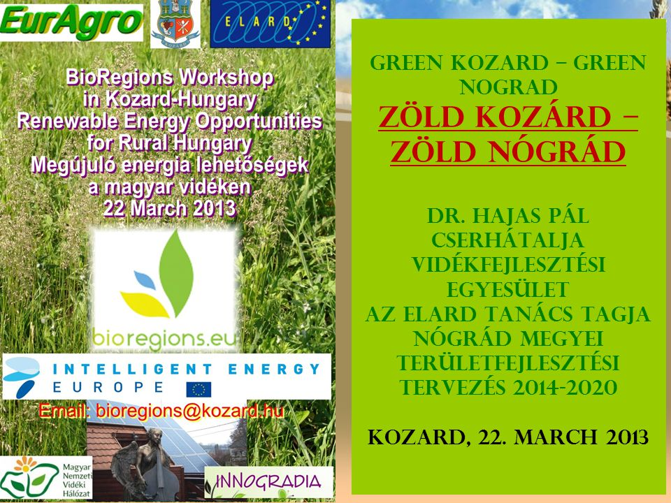 Green Kozard – Green Nograd Zöld Kozárd – Zöld Nógrád Dr