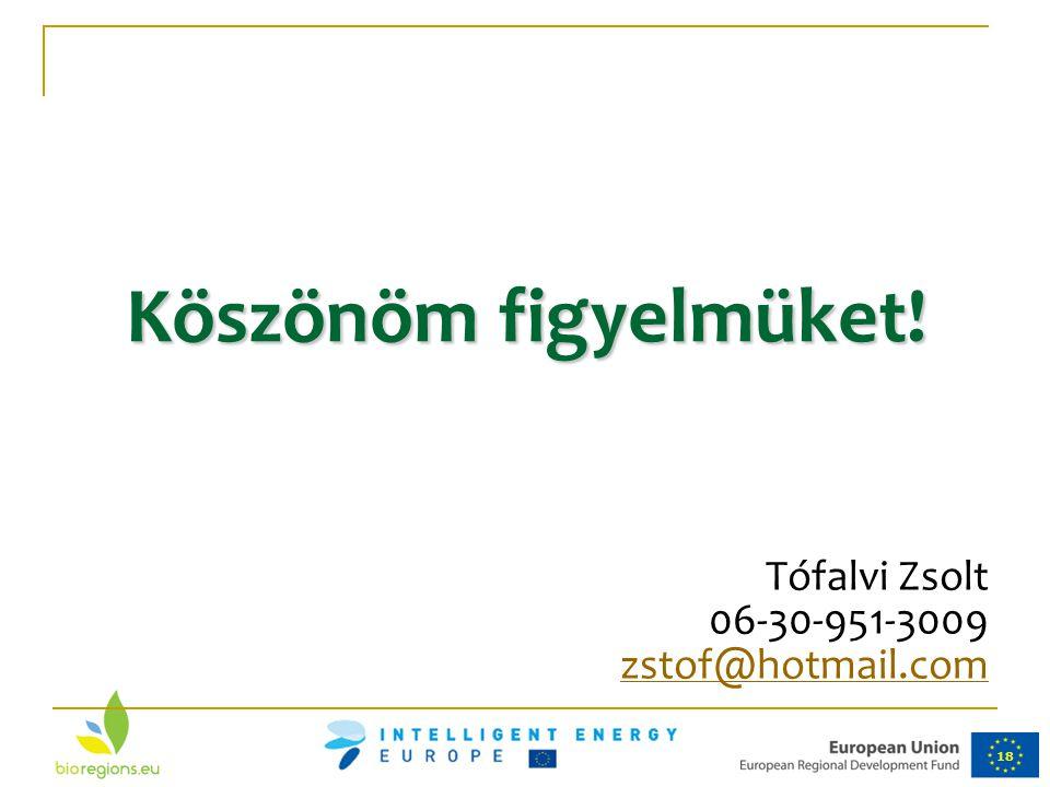 Köszönöm figyelmüket! Tófalvi Zsolt 06-30-951-3009 zstof@hotmail.com