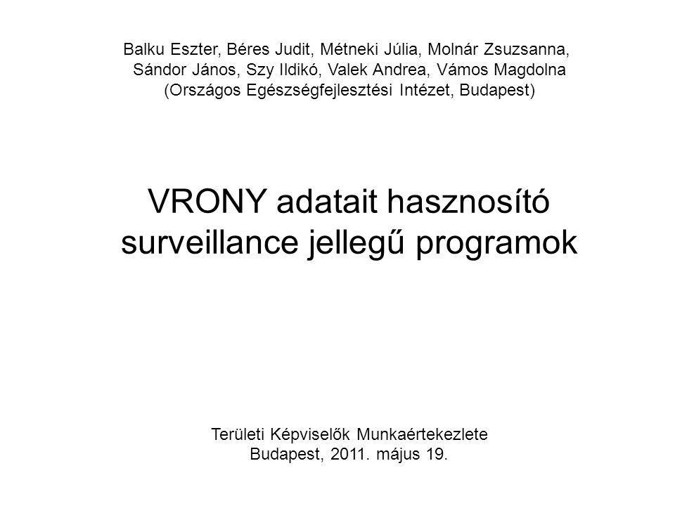 VRONY adatait hasznosító surveillance jellegű programok