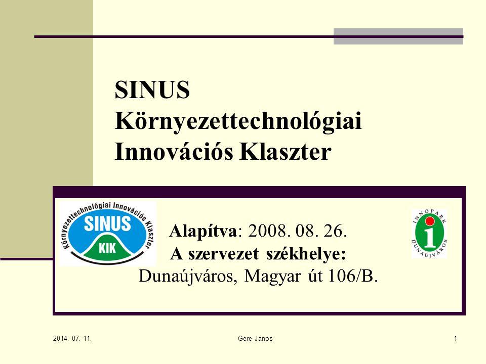 SINUS Környezettechnológiai Innovációs Klaszter