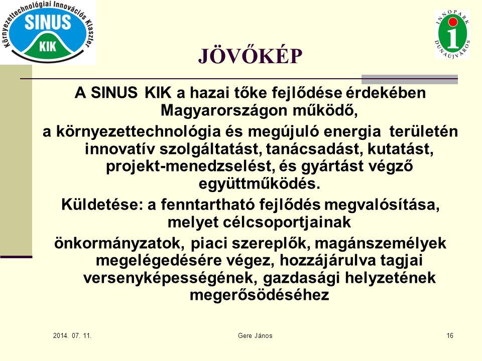 A SINUS KIK a hazai tőke fejlődése érdekében Magyarországon működő,