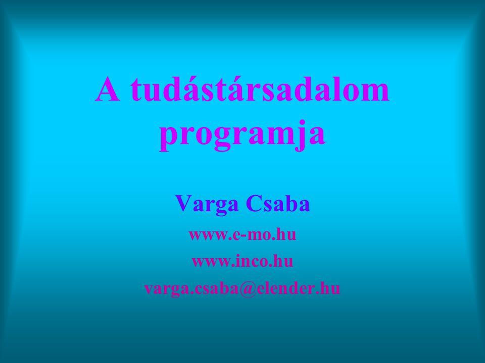 A tudástársadalom programja
