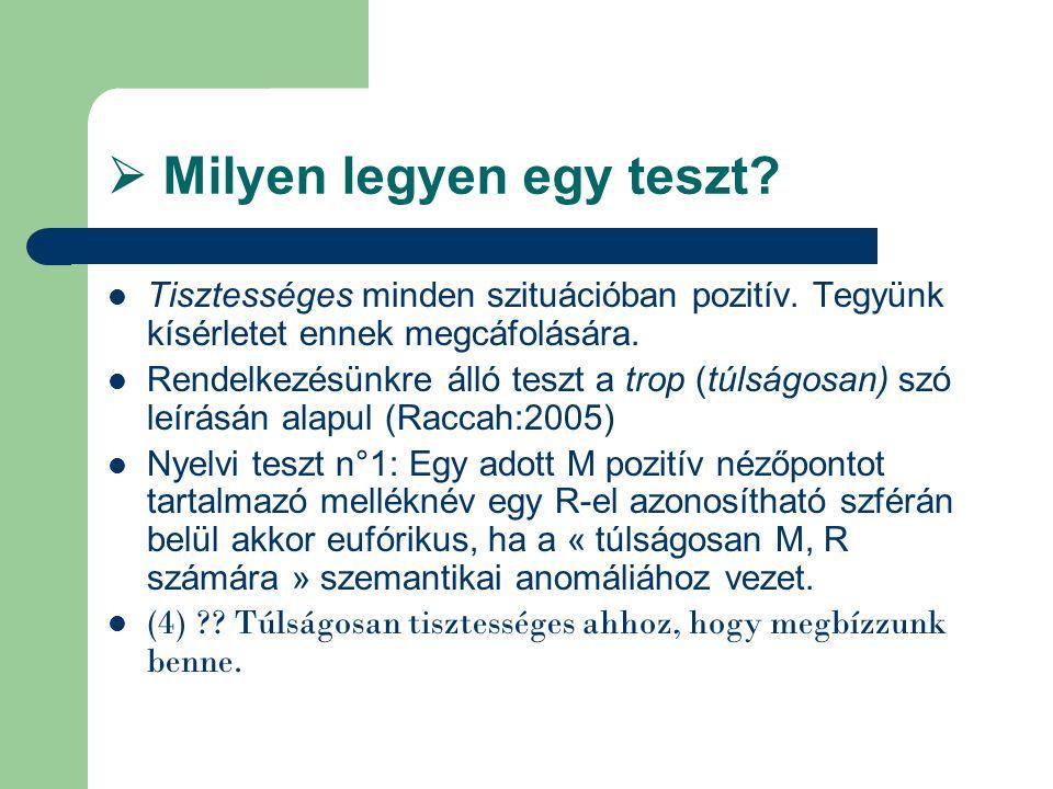  Milyen legyen egy teszt