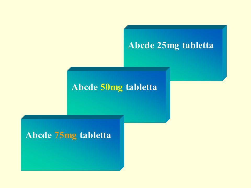 Abcde 25mg tabletta Abcde 50mg tabletta Abcde 75mg tabletta