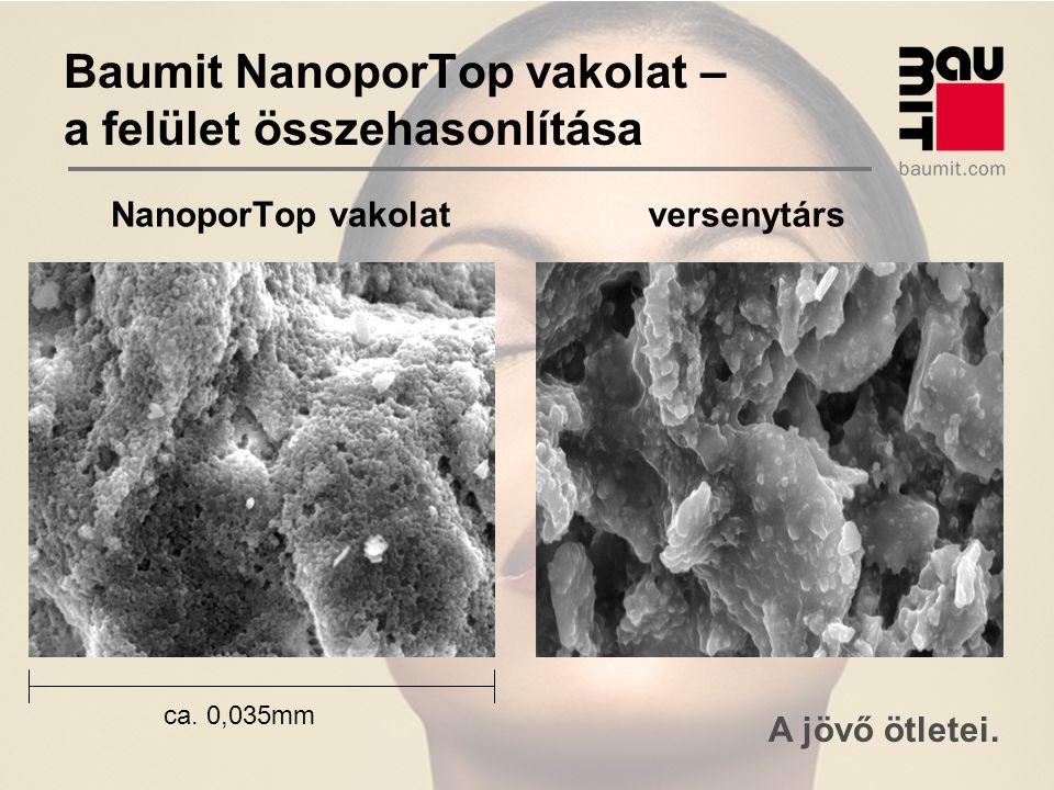Baumit NanoporTop vakolat – a felület összehasonlítása